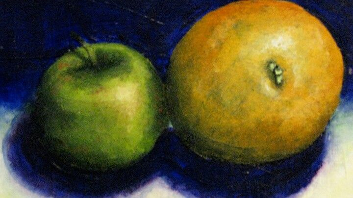 'Apple & Orange: Still-life' by: Frezanne Broens (me)