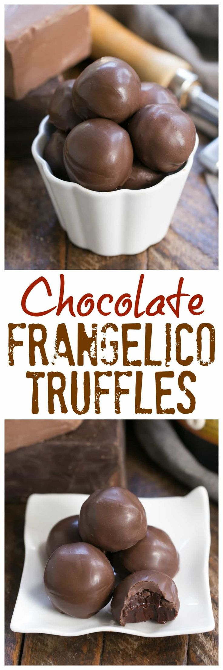 Chocolate Frangelico Truffles | Exquisite truffles flavored with hazelnut liqueur plus a guide for tempering chocolate