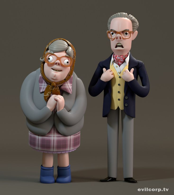Seth Watkins / Tubbs & Edward (The League of Gentlemen) #3D #render #character