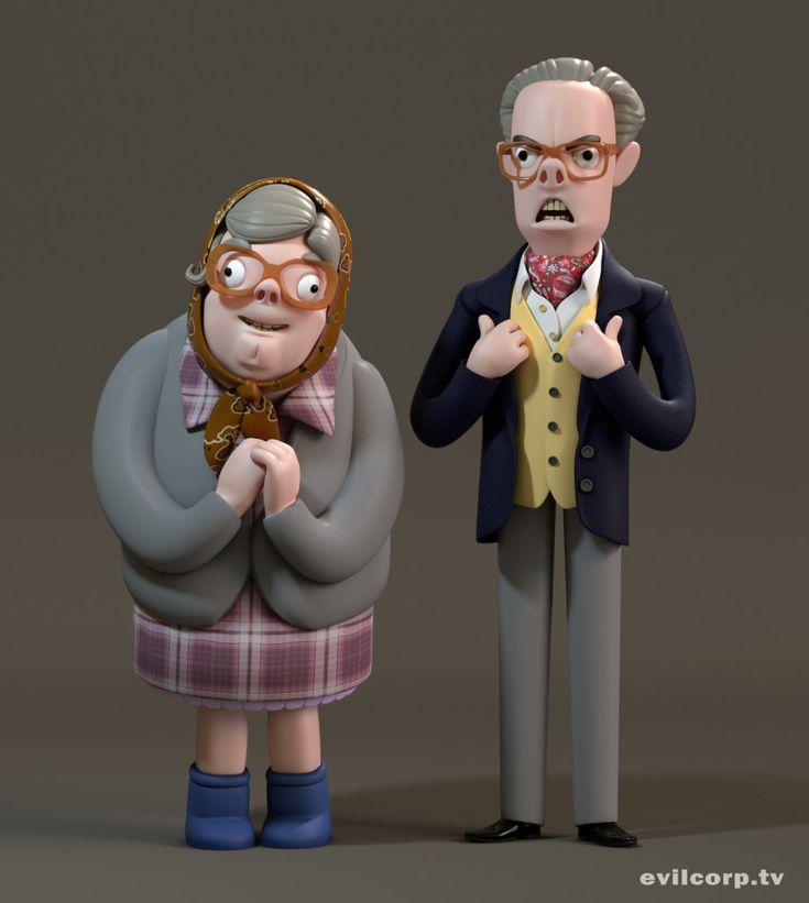 Seth Watkins / Tubbs & Edward (The League of Gentlemen) #3D #render #character