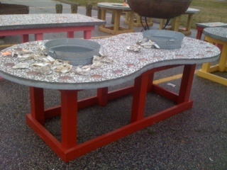 Oyster Shucking Table