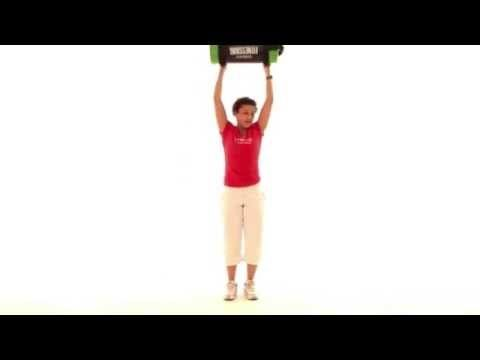 Gymstick Australia Fitness Bag Trio Bicep curl with rotation, balance and shoulder press.