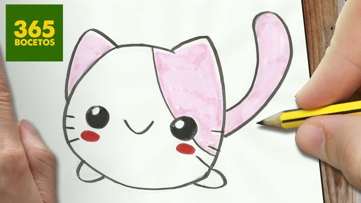 Como Dibujar Gato Kawaii Paso A Paso Dibujos Kawaii Faciles