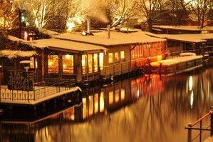 Freischwimmer Berlin - a wonderful restaurant/club right on the water! More information on Berlin: visitBerlin.com