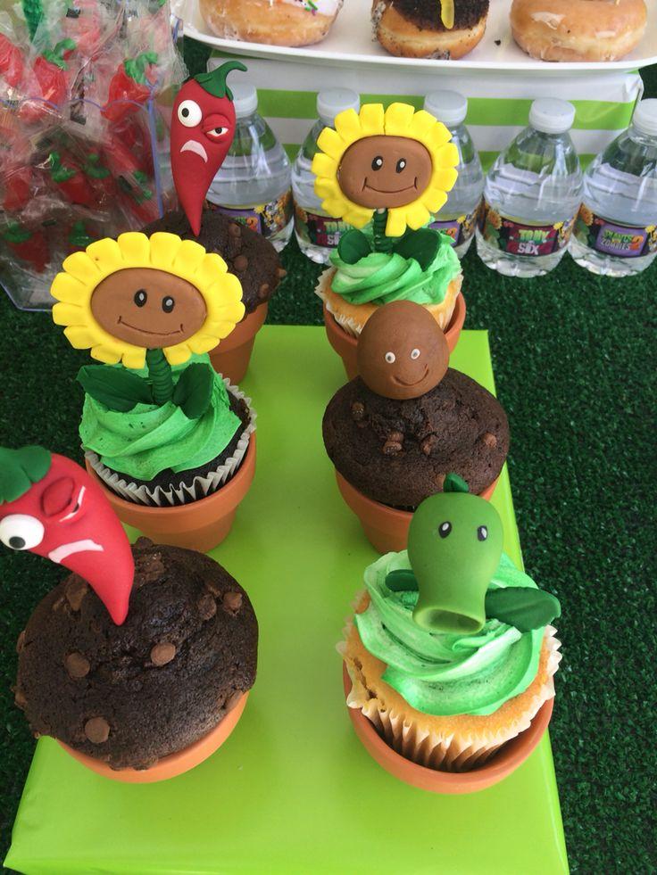 Plants Vs Zombies Birthday Party Cupcakes Plants Vs