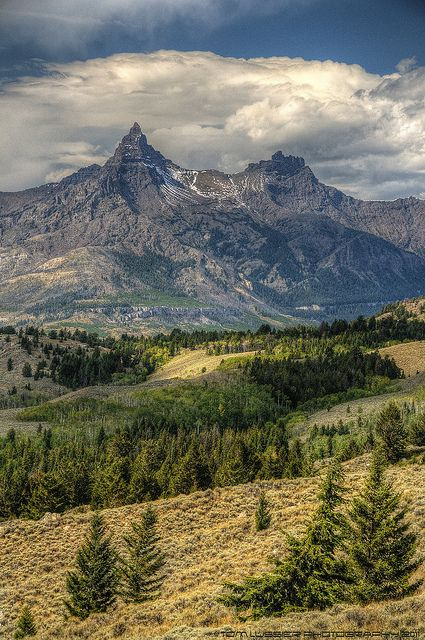 """Absaroka Range, Wyoming - """"Beartooth Pass""""  - This is my most favorite view on the Beartooth Highway, Pilot & Index Peaks!"""