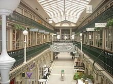The Arcade - Providence, RI. Built in 1828, it is notable as the first enclosed shopping mall in the United States.