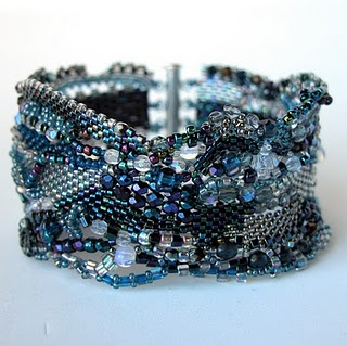 Beautiful blue freeform.. http://beadsforever2.blogspot.com