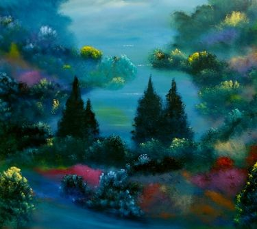 """Saatchi Art Artist David Snider; Painting, """"Lexington"""" #art -- to me, this is Magical Realism in art."""