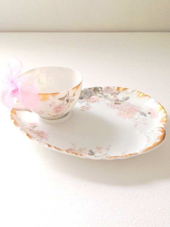 France Luncheon Plate and Tea Cup Snack Plate Tea for & 179 best snack sets images on Pinterest | Tea pots Afternoon tea ...