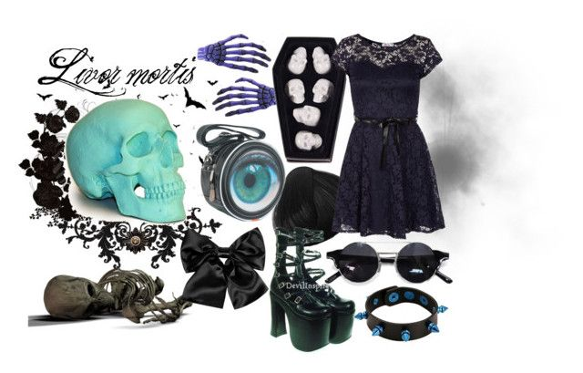 """""""Stages of decompostion - Livor mortis"""" by zombieliquor ❤ liked on Polyvore"""