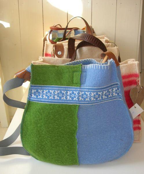 Wollen tas van doordoorgemaakt op DaWanda.com