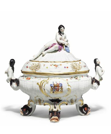 Meissen Porcelain Armorial Tureen from the