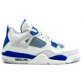 Air Jordan Retro 4 Military Blues White Neutral Grey 308497-105 For Sale $100.00 With 47% off http://www.genomenglish.com/