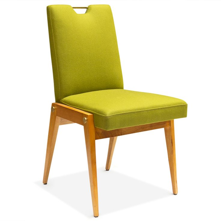 Streamlined Legs Made From Honeyed Wood Cradle An Upholstered Seat And Back In Our Modernist Amsterdam Dining Chair Swanky Detailsm