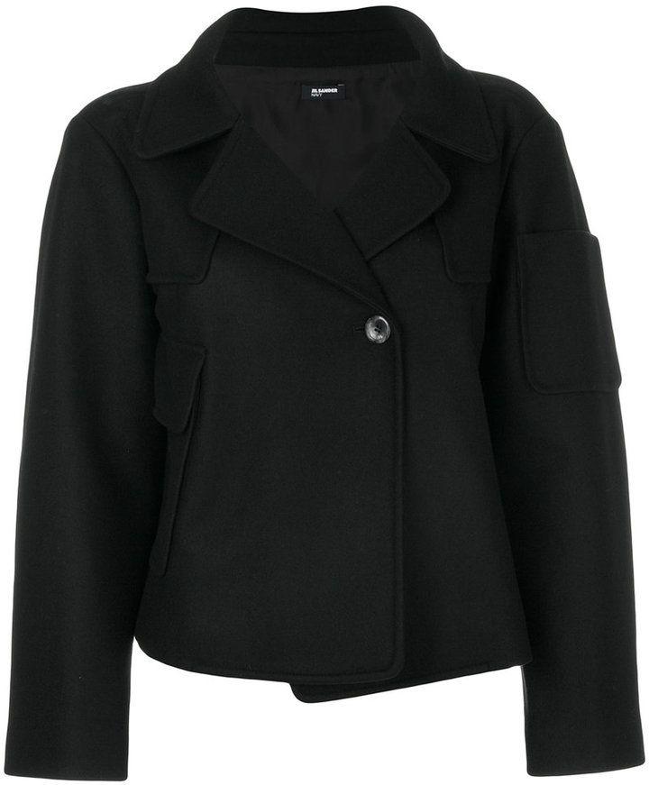 Jil Sander Navy short double breasted jacket
