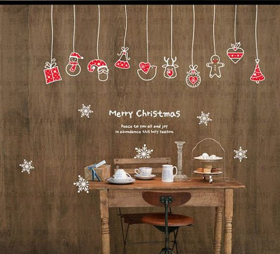Christmas Decoration Mural Art Wall Window Deco DIY by minitoba, $19.99