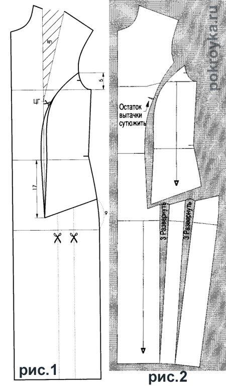 Моделирование платья с рельефом от проймы и сборкой по боку