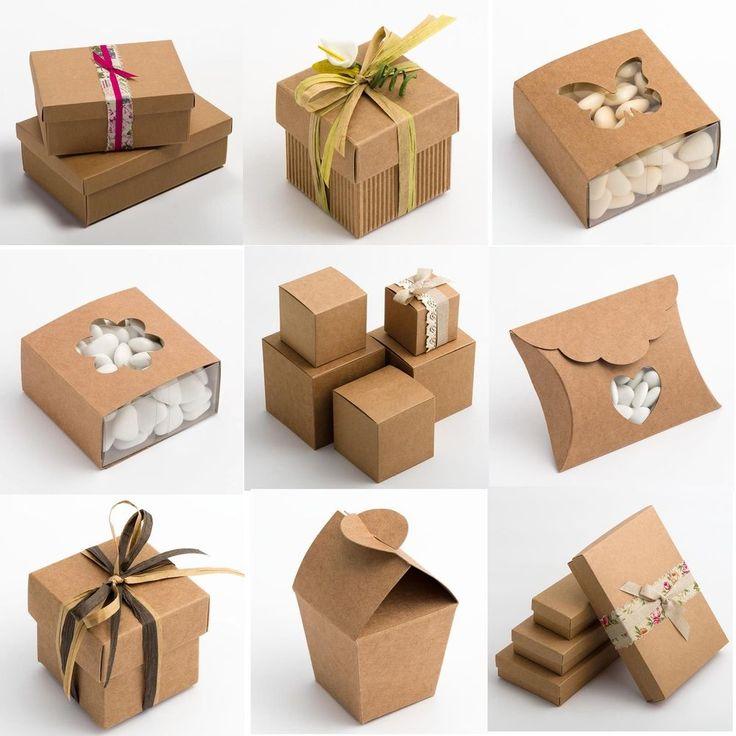 Natural Rustic Kraft Shabby Chic Wedding Favour Gift Boxes #KellysWeddingWorld