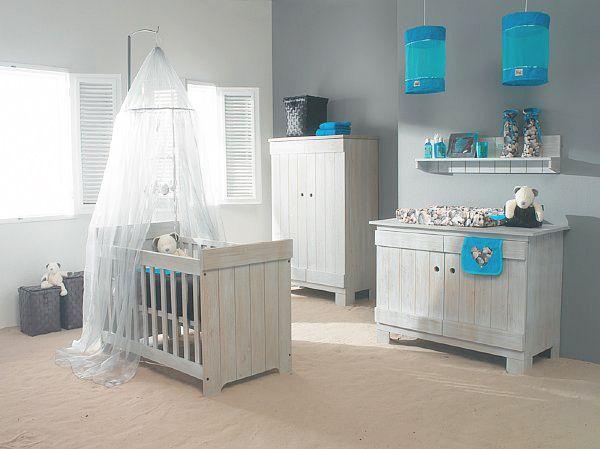 Chambre bébé fille grise et turquoise  Chambre garçon ...