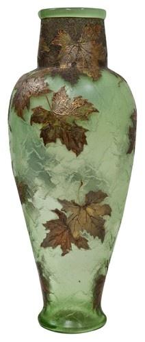 "Maugin glass vase ""Autumn leaves"""