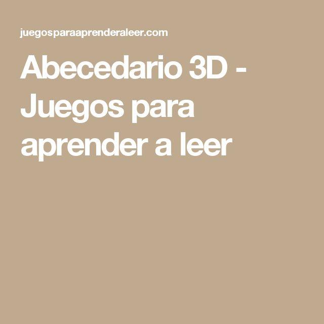Abecedario 3D - Juegos para aprender a leer