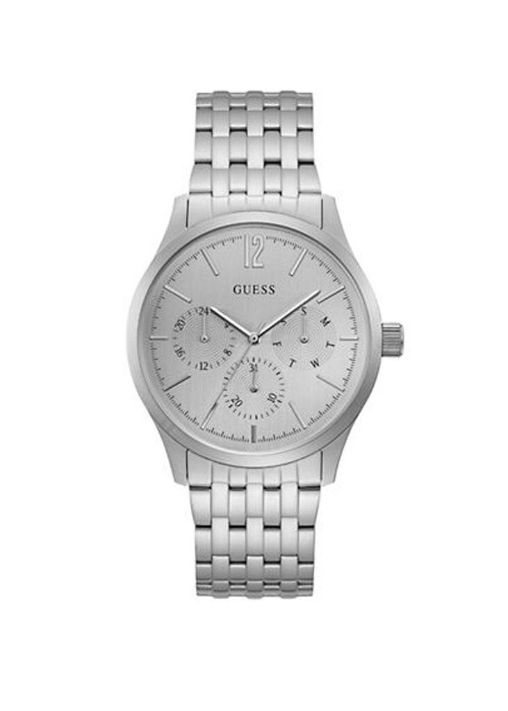 Guess Chronograph Brushed Silvertone Watch
