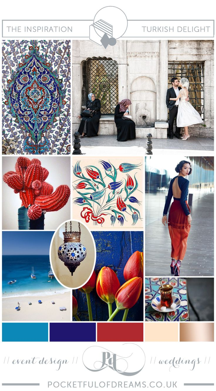 Turkish/Turkey inspired wedding. Inspiration boards produced by @Emma of Dreams for lovemydress.net