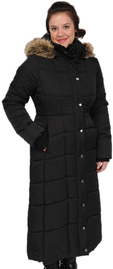 Excelled Women's Excelled Hooded Long Puffer Coat