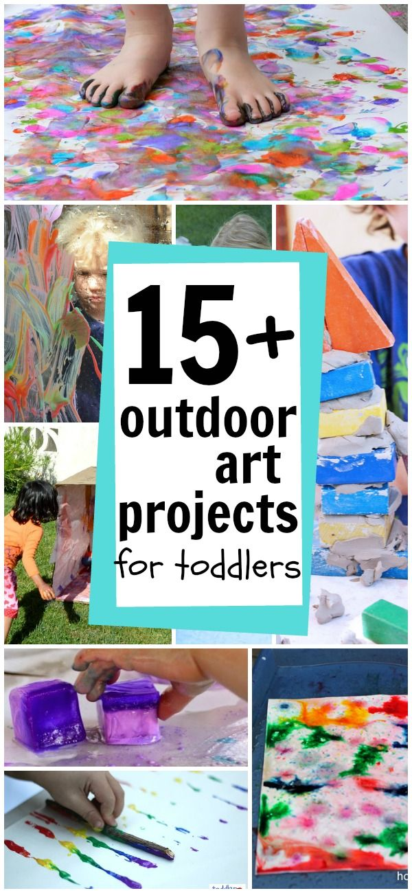 Outdoor Art for Toddlers:  So many fun ideas to get messy creatively!  :)
