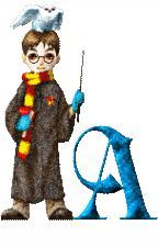 Alfabeto de Harry Potter con variga mágica.