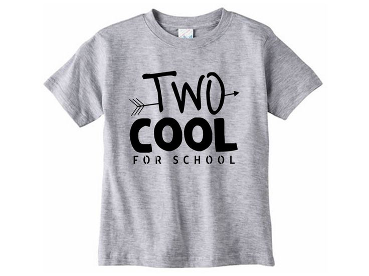 Two cool for school shirt // Second birthday - Two year old birthday tshirt - Two year old shirt - 2 year old - Graphic tee - Two Cool shirt by SkeleteePrinting on Etsy
