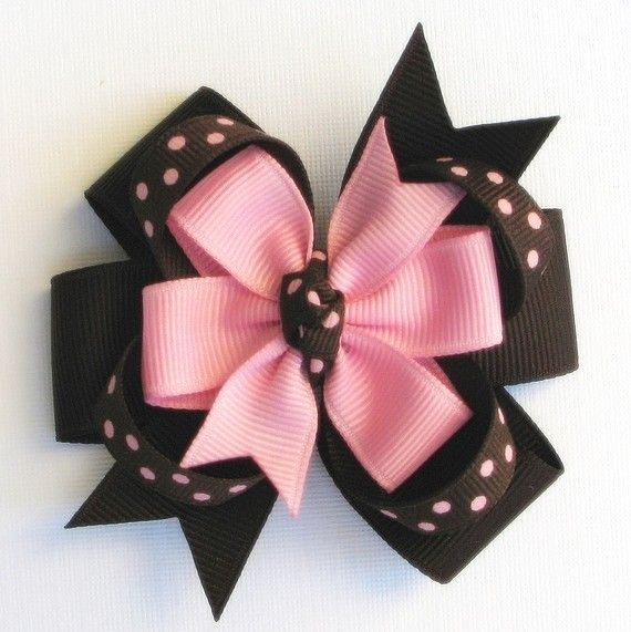 Ladybug Black /& white 5-5 1//2 Inch Custom Made Boutique Hair Bow