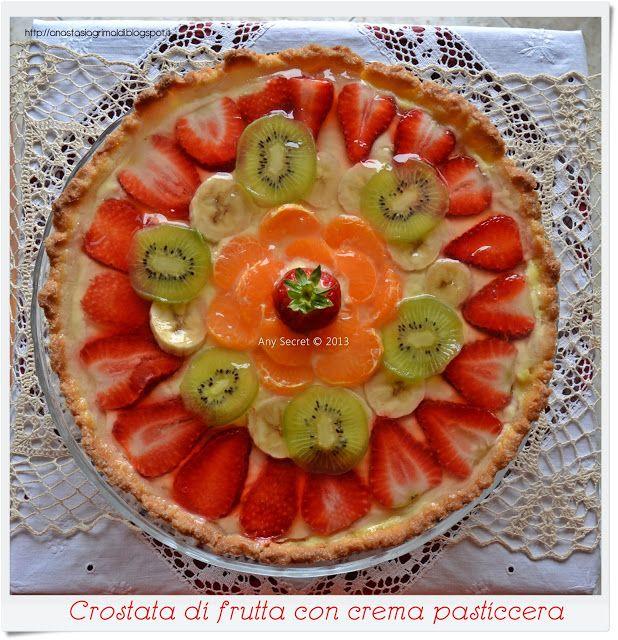 Crostata di frutta con crema pasticcera