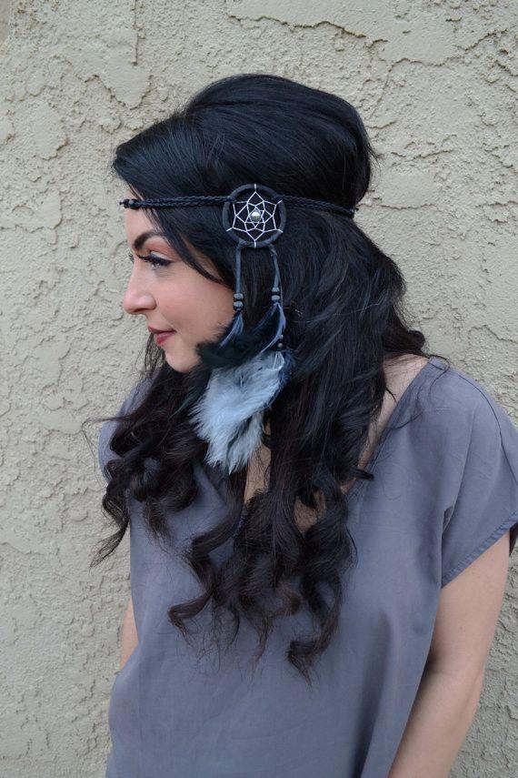 Grey & Black Dreamcatcher Headband