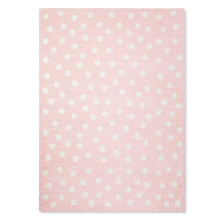 Pink Polka Dots Rug (5'x7') - Pillowfort