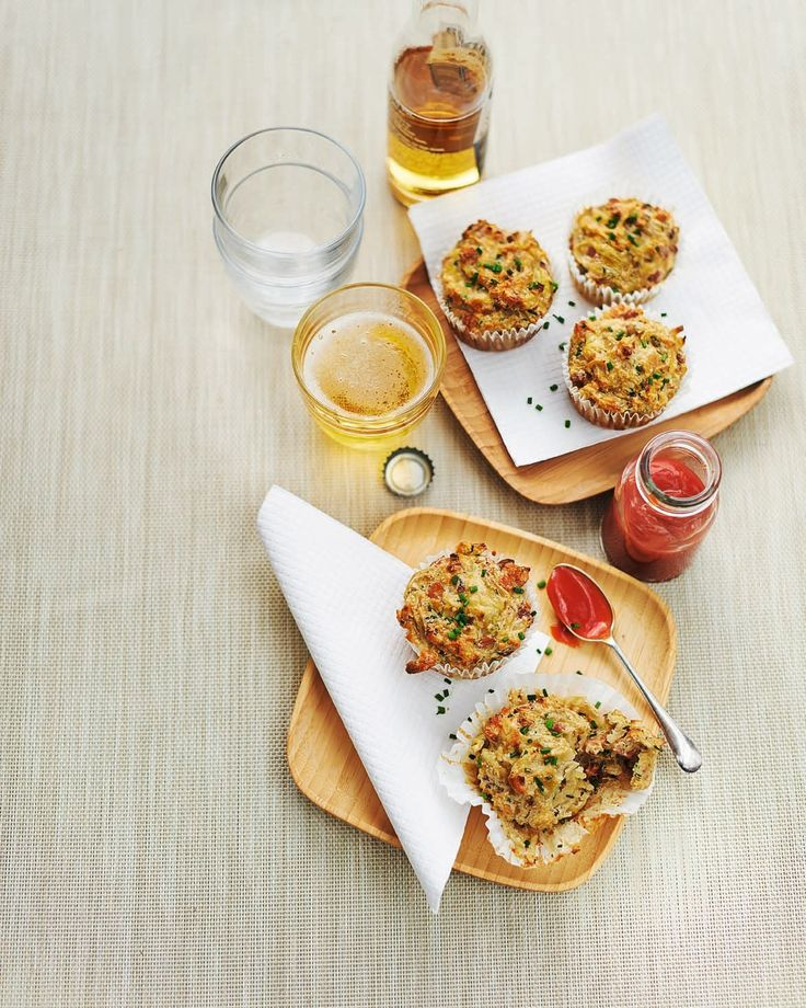A savoury muffin recipe made with potato, pancetta, onion and chives.
