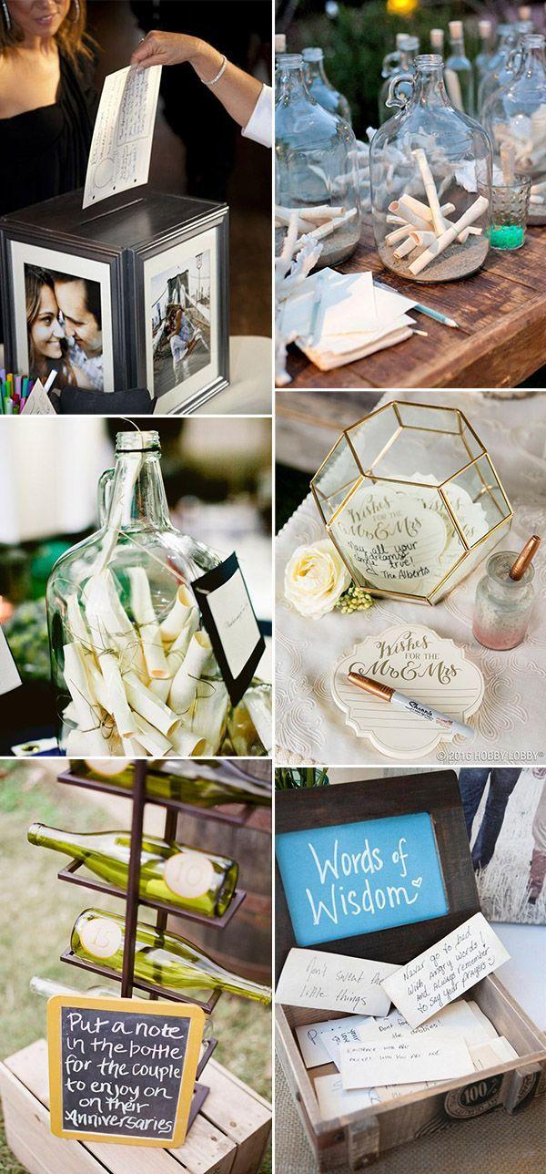 unique wedding notes guest book ideas