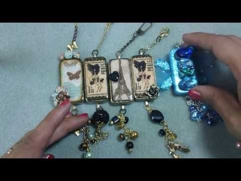 How to get a glossy surface on shrinky dink jewelry - YouTube