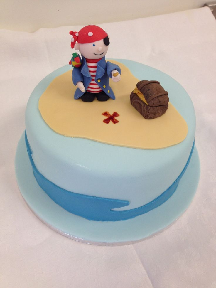 Pirate themed christening cake