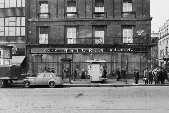 1962. Astoria Szálló Múzem köruti oldala.