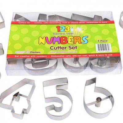 Stainless Steel Numbers Food Cutters – Large http://littlebentoworld.com/shop/food-cutters/stainless-steel-numbers-food-cutters/