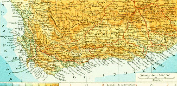 1950 Carte Afrique Australe, Afrique du Sud ouest, Planche Originale Atlas Geographie Grand Format de la boutique sofrenchvintage sur Etsy