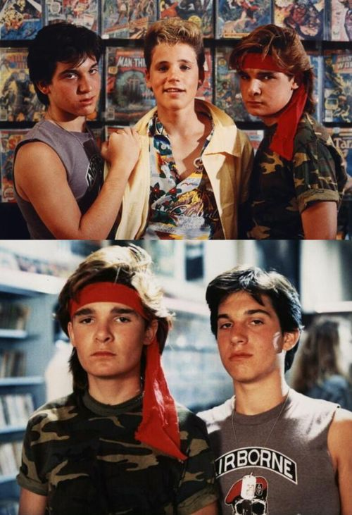 The Lost Boys -  (Top) Corey Feldman, Corey Haim, Jamieson Newlander... (Bottom) The Frog Brothers