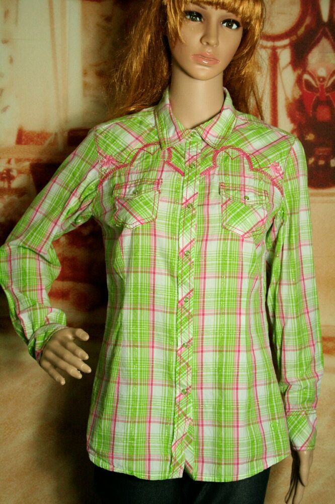 5bc0ee70 Womens Ariat Fitted Western Shirt Plaid Pearl Snap Button Front size M # Ariat #ButtonUp #Casual