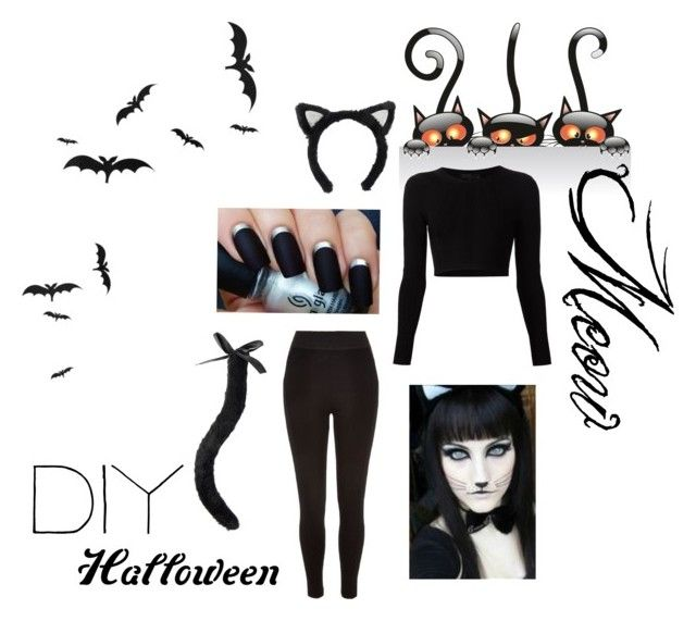"""""""DIY Cat Costume"""" by gjpink on Polyvore featuring River Island, Cushnie Et Ochs and diycostume"""