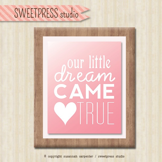We love this digital file from sweetpressStudio! Print it at home and add a frame for a great baby shower gift. $15, etsy.