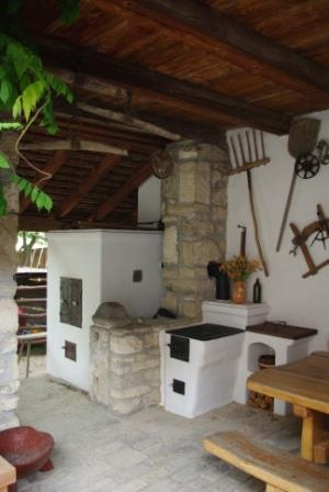Old Hungarian home's kitchen