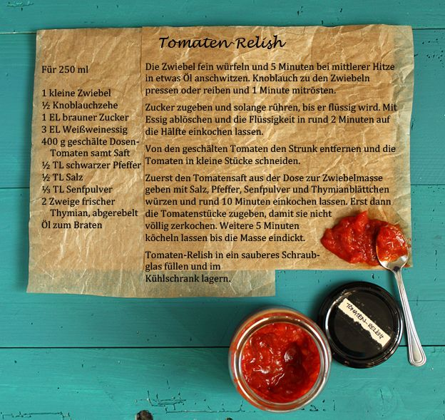 Schnelles Tomaten-Relish » Taste of Travel