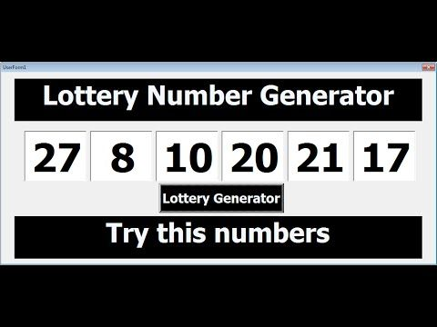 Winning Lottery Number Generator